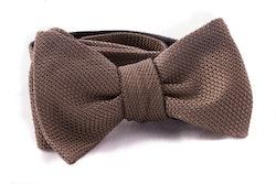 Solid Grenadine Fina Bow Tie - Olive Green
