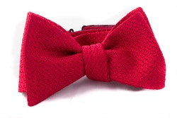 Solid Grenadine Grossa Bow Tie - Red