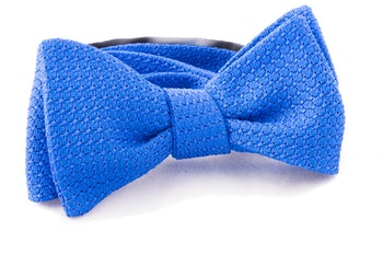Solid Grenadine Grossa Bow Tie - Royale Blue