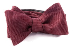Solid Grenadine Fina Bow Tie - Bourgogne