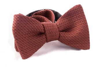 Solid Grenadine Grossa Bow Tie - Nougat