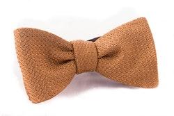 Solid Grenadine Grossa Bow Tie - Mustard