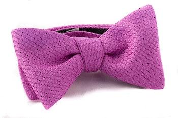 Solid Grenadine Grossa Bow Tie - Cerise