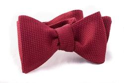 Solid Grenadine Fina Bow Tie - Burgundy