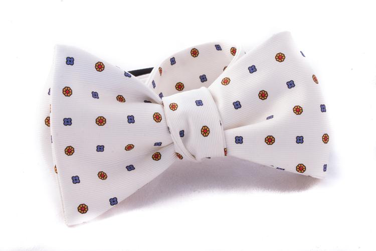 Self tie Silk - Creme