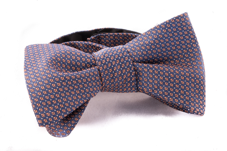 Self tie Silk - Blue/Orange