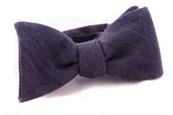 Self tie Wool - Navy Blue
