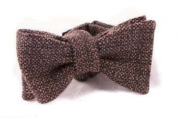 Self tie Cotton Bow Tie - Light Brown
