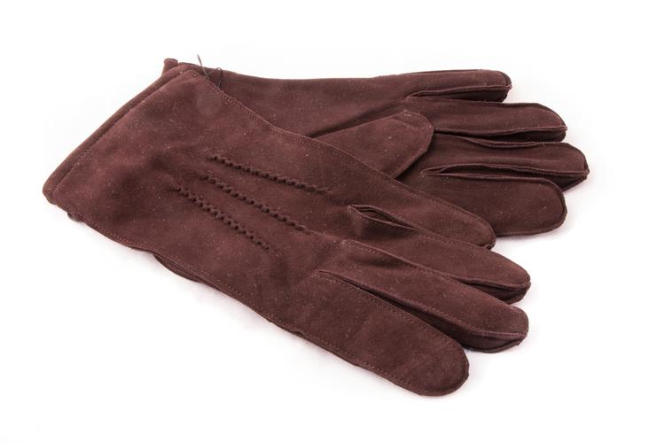 Suede Gloves - Brown
