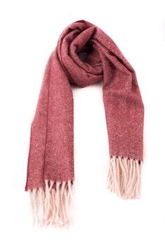 Herringbone Wool - Burgundy