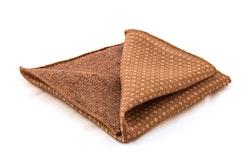 Wool Pin Dot/Plaid - Caramel