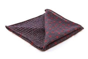 Wool Plaid/Polka Dot - Blue/Red