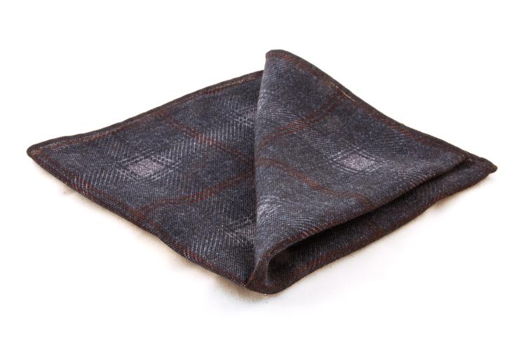 Wool Plaide - Grey/Brown