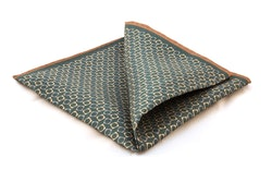 Silk Squares - Green/Beige