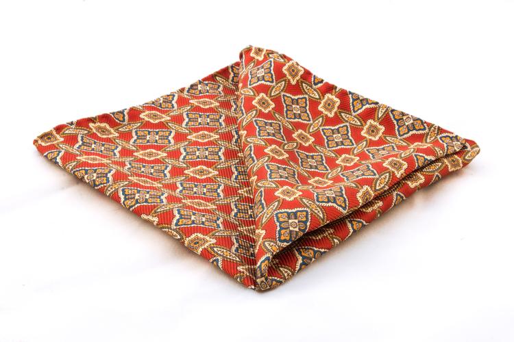 Vintage Silk Floral - Red/Gold