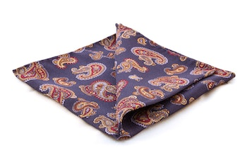 Silk Paisley - Royale Blue/Red