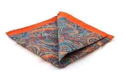 Silk Paisley - Rust/Turquoise