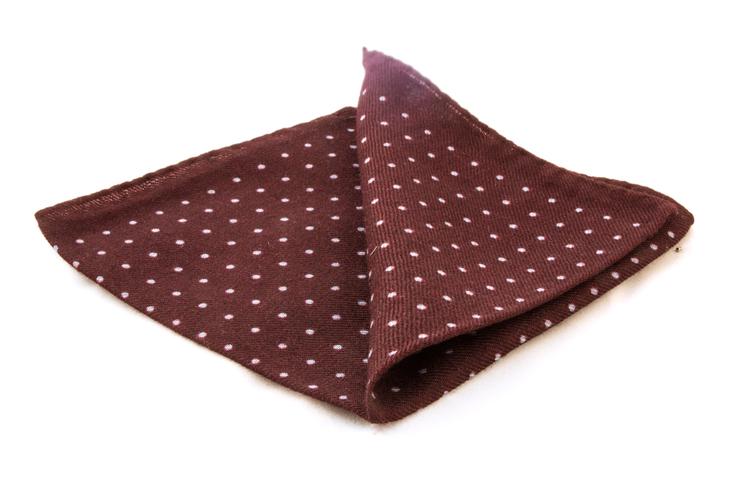 Wool Polka Dot - Brown/Light Blue