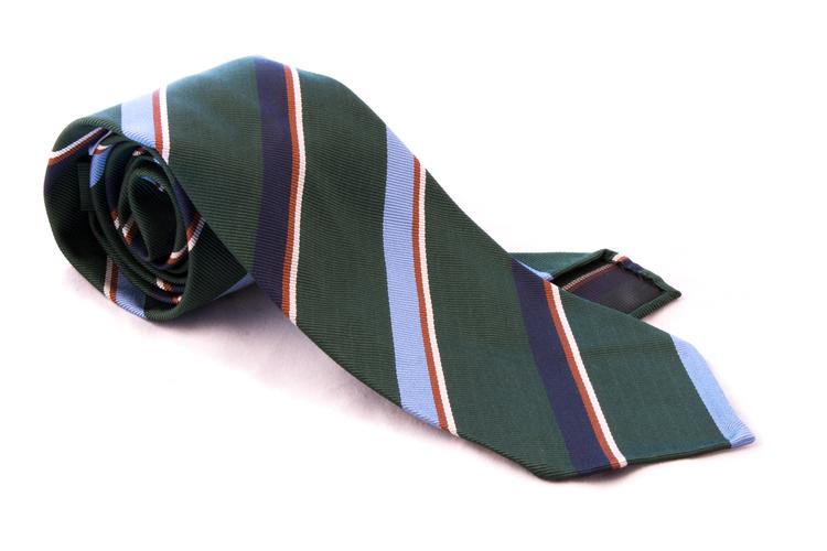 Untipped Regimental - Green/Blue/Red