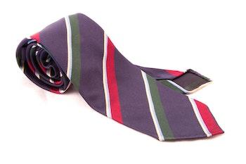 Untipped Regimental - Navy Blue/Red/Green/White
