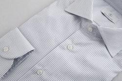 Bengal Stripe Shirt - White/Navy Blue