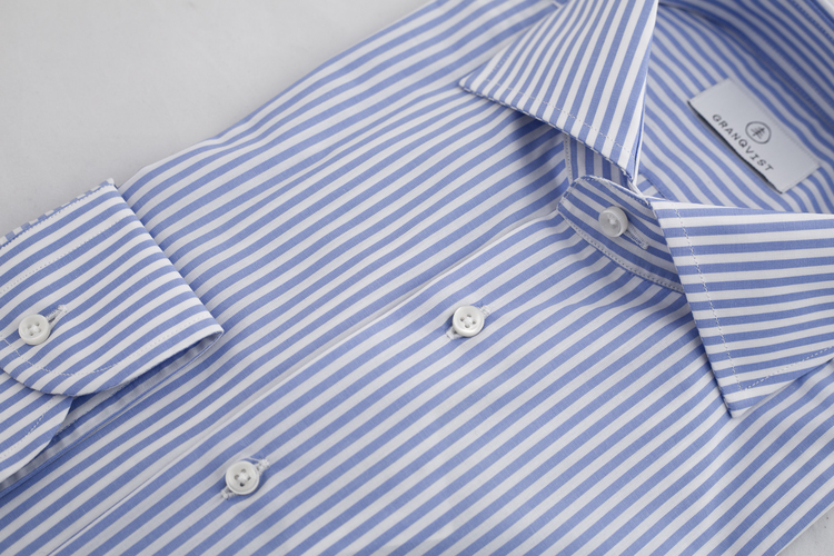 Bengal Stripe Shirt - Light Blue/White