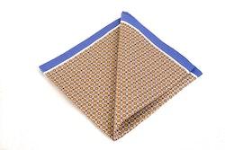 Cotton Micro Square - Beige/Brown/Blue