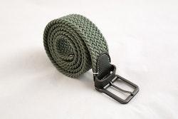 Waxed stretch belt - Green