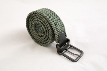 Waxed stretch belt - Green
