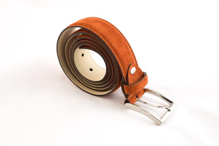 Suede Belt - Orange