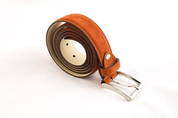 Suede Belt - Orange