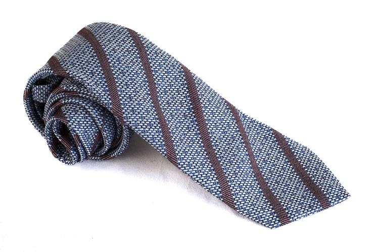 Cotton Regimental - Blue/Brown