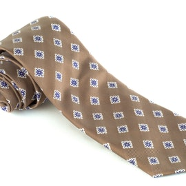 Silk Square - Beige/Blue/White