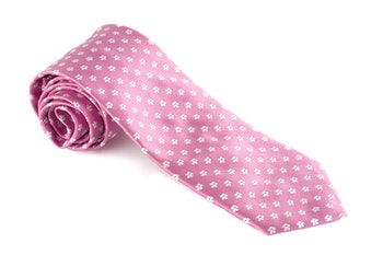 Silk Floral - Pink/White