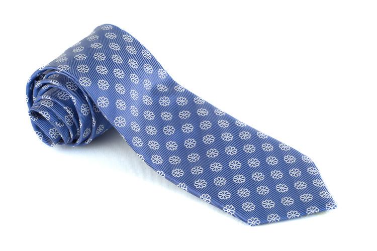 Silk Floral - Navy Blue/White
