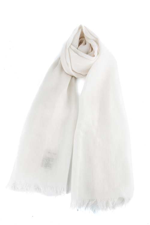 Scarf Solid Cashmere/Linen - Creme