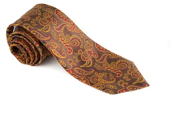 Silk Paisley - Brown/Yellow/Red/Green