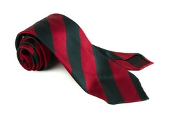 Silk Regimental Untipped - Red/Green