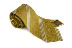 Shantung Regimental Untipped - Yellow/White
