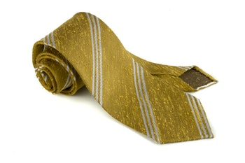 Shantung Regimental Untipped - Yellow/White