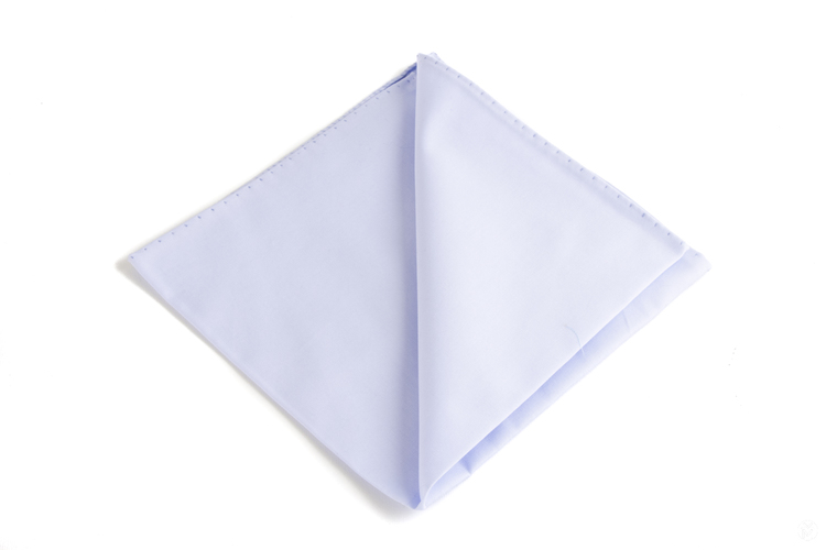 Solid Cotton Pocket Square - Light Blue