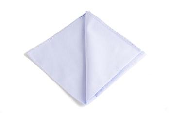 Solid Cotton Pocket Square - Light Blue