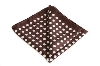 Silk Polka Dot - Brown/White