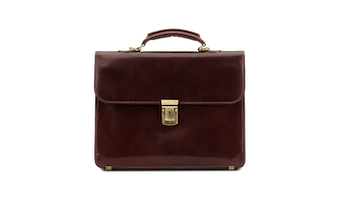 Briefcase - Brown Leather