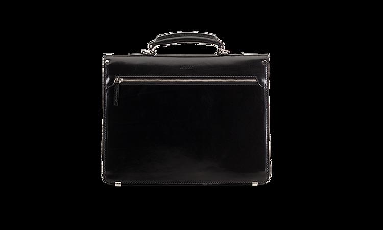 Briefcase - Black Leather