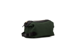 Wash bag - Green Canvas