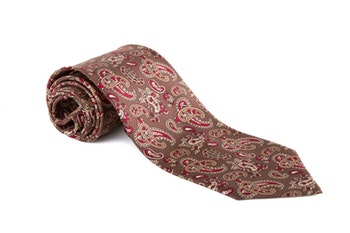 Paisley Vintage Silk Tie - Brown/Red/Beige