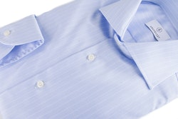 Stripe Twill Shirt - Light Blue/White