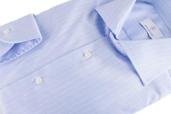 Stripe Twill Shirt - Light Blue/White