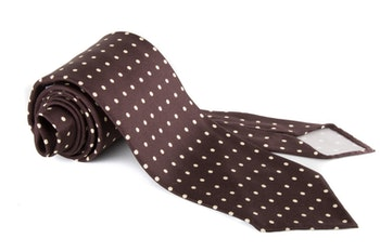Printed Polka Dot Untipped - Brown/White